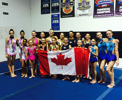 Canadian team announced for 2016 Acrobatic Gymnastics World Age Group Competition