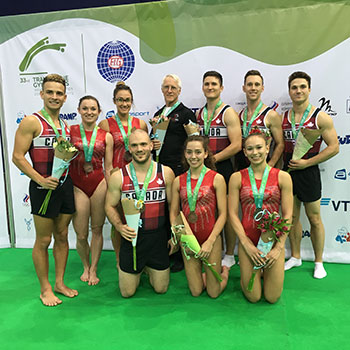 Canada captures bronze in all-around team final at 2018 Trampoline Gymnastics World Championships