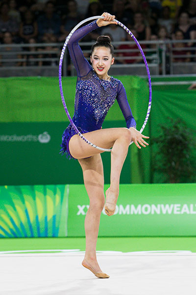 Tough day for rhythmic gymnasts on day one of competition at 2018 Commonwealth Games