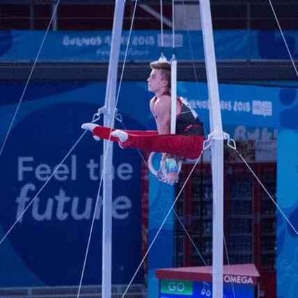 Dolci finishes ninth in all-around at Youth Olympic Games