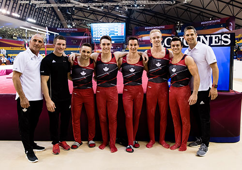 Canadian men's team finishes off Day 1 of qualifiers at Artistic Gymnastics World Championships in 8th place