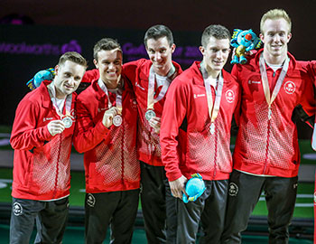 Men's Artistic Gymnastics team takes silver at 2018 Commonwealth Games