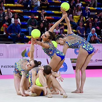 Strong performances for Canadian rhythmic gymnasts at World Challenge Cup in Spain