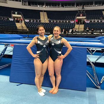 Tam and Smith narrowly miss podium in women's synchro trampoline at Minsk World Cup