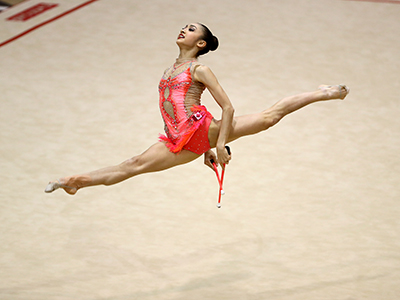 Bezzoubenko and Chtrevenskii top field on Day 2 of Rhythmic Gymnastics Canadian Championships