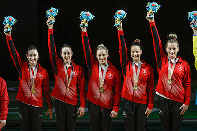 Canadian women's artistic gymnastics team tops the podium at 2018 Commonwealth Games