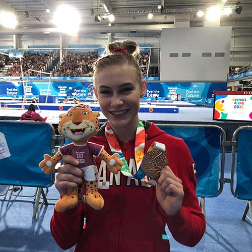 Spence captures bronze in vault final at Youth Olympic Games