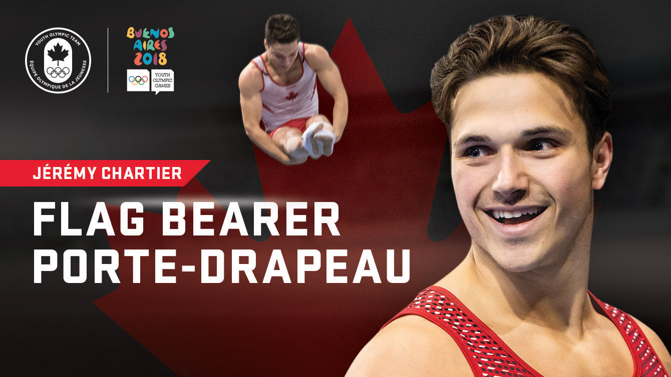 Jérémy Chartier named Team Canada's Buenos Aires 2018 Opening Ceremony Flag Bearer