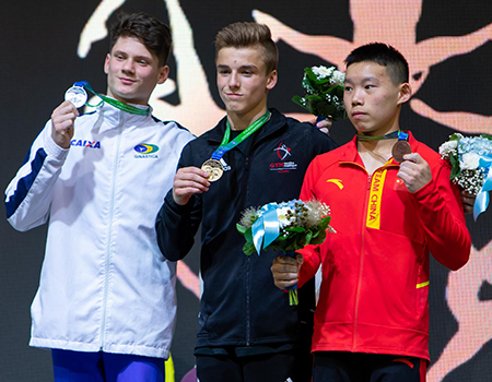 Félix Dolci crowned Junior World Champion on rings; adds silver on floor