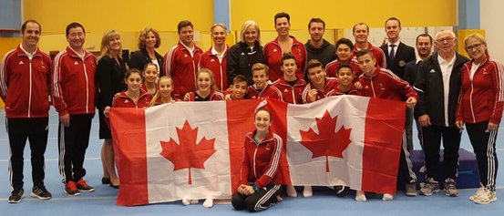Eleven medals for Canadian gymnasts on final day of Olympic Hopes Cup
