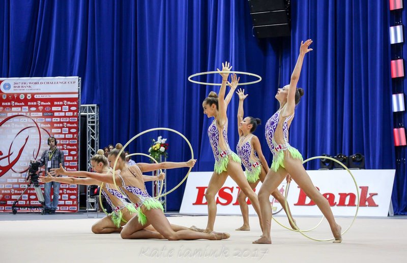 Sixth place finish for rhythmic group at Minsk World Challenge Cup