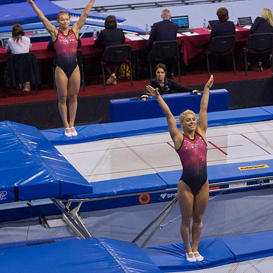 Méthot and Milette and Women's DMT team both finish fifth on Day 3 of the Trampoline Gymnastics World Championships