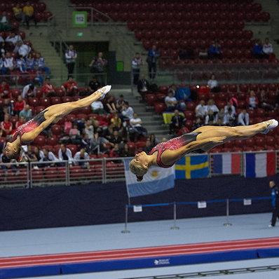 Méthot and Milette qualify for synchronized trampoline finals at World Championships