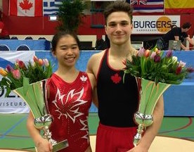 Chartier wins junior trampoline gold at 2017 Flower Cup