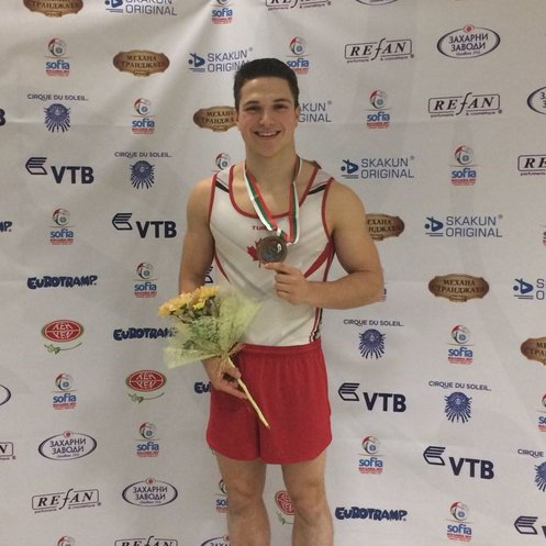 Chartier wins Gold at Trampoline Gymnastics World Age Group Competition