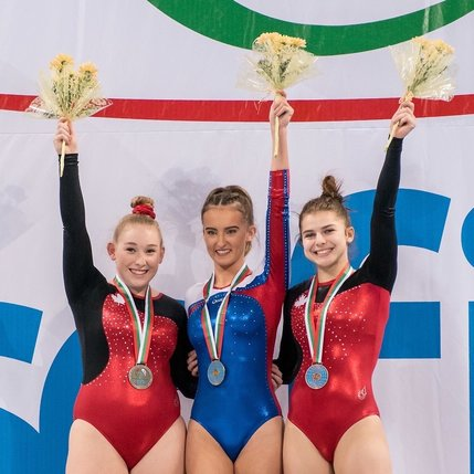 Silver and bronze medal in trampoline gymnastics at the World Age Group Competition in Bulgaria