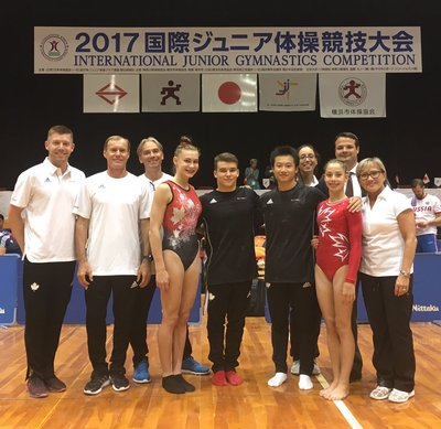Gold and silver medal for artistic junior gymnasts in Japan