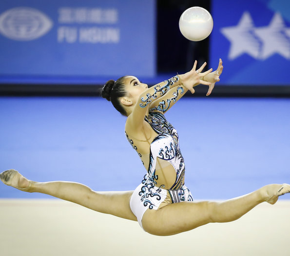 Canadian rhythmic gymnasts compete at FISU Games
