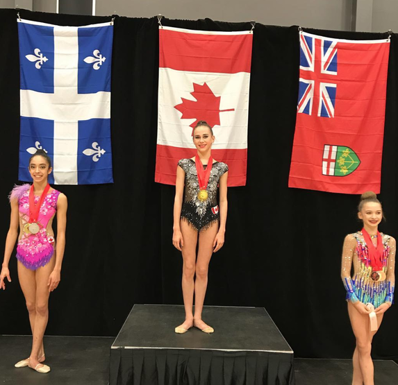 All-around Gold for Crane and Vivier at the 2018 Elite Canada Rhythmic