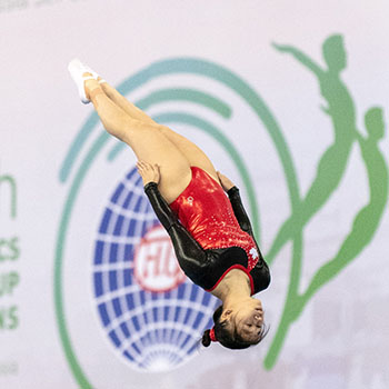 Tam captures bronze in trampoline to close out 2018 Trampoline Gymnastics World Age Group Competitions